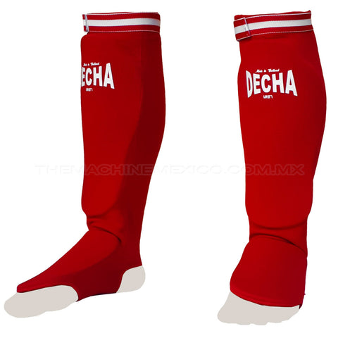 Elastic Shin Guards Decha Sock Red