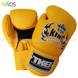 Guantes Box Top King para Niños amarillo