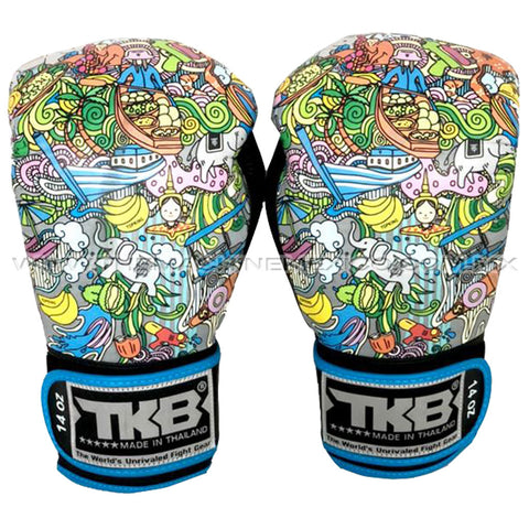 Guantes Box Top King Culture azul