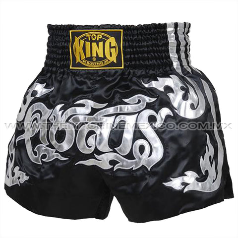 Top King Shorts Muay Thai Negro