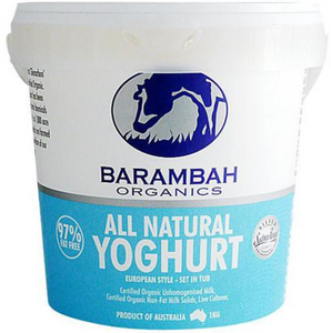 Barambah Organics All Natural Yoghurt 1litre, 500ml