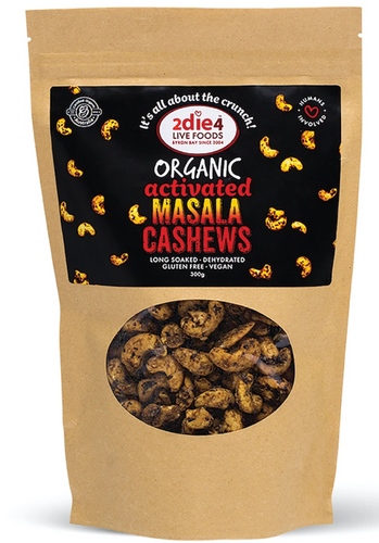 2DIE4 FOODS ACTIVATED ORGANIC MASALA CASHEWS