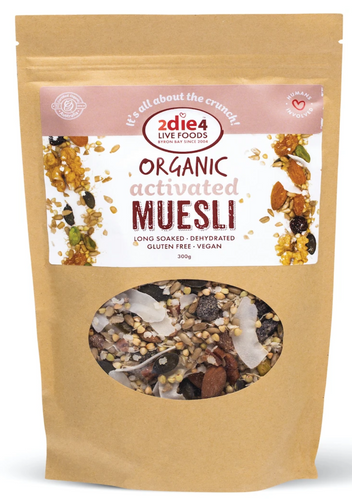 2DIE4 FOODS ACTIVATED ORGANIC MUESLI 600g