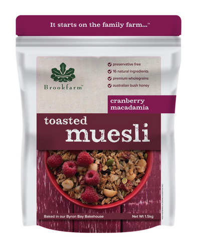 Brookfarm Toasted Macadamia Muesli with Cranberry