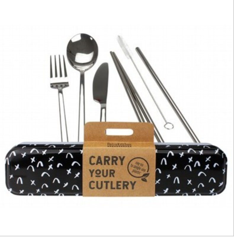 RETROKITCHEN Carry Your Cutlery - Criss Cross Stainless Steel Cutlery Set 1