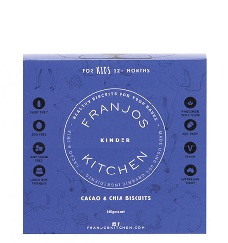 Franjo's Kitchen Cacao & Chia Kinder Biscuits 140g
