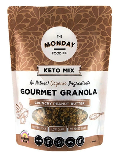 The Monday Food Co Crunchy Peanut Butter - Keto Granola (I'm Vegan) 300g