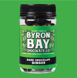 BYRON BAY CHOCOLATE CO DARK CHOCOLATE GINGER 210g