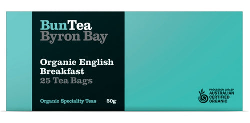 BunTea Byron Bay Organic English Breakfast Tea Bags - 25 bags