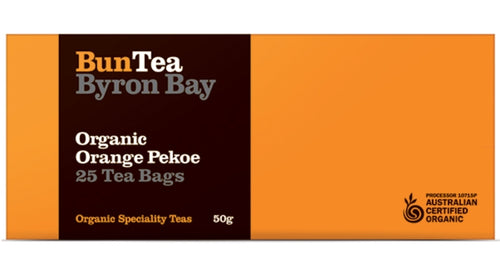 BunTea Byron Bay Organic Orange Pekoe Tea Bags - 25 Bags