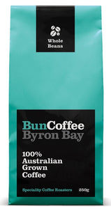 Bun Coffee Byron Bay 100% Australian Grown Coffee Beans - Plunger -250g