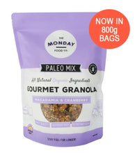 Load image into Gallery viewer, The Monday Food Co Macadamia & Cranberry - Paleo Granola 300g and 800g
