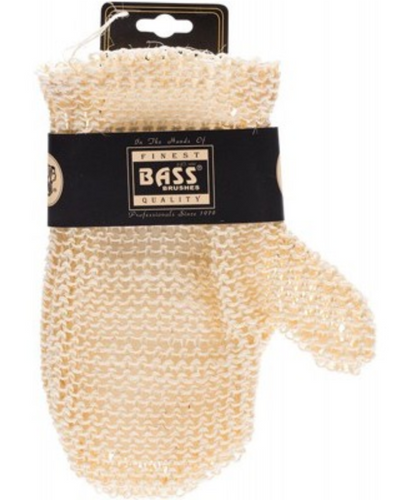 BASS BODY CARE Sisal Deluxe Hand Glove Knitted Style, Firm 1