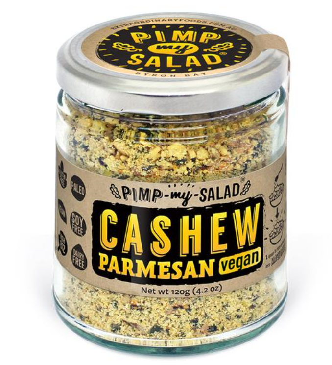 Extra- Ordinary Foods Cashew Parmesan Eco Jar - Vegan Alternative to Cheese 120g