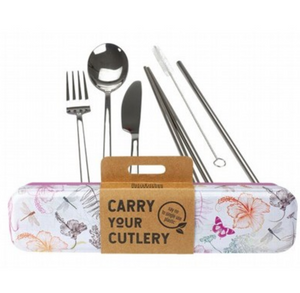 RETROKITCHEN Carry Your Cutlery - Dragonfly Stainless Steel Cutlery Set 1