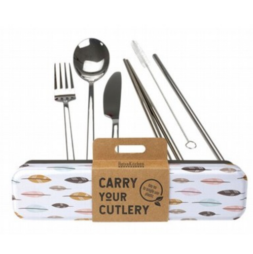 RETROKITCHEN Carry Your Cutlery - Leave Stainless Steel Cutlery Set 1