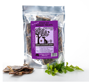 Byron Bay Doggy Treats - Organic Dried Kangaroo Jerky 120g