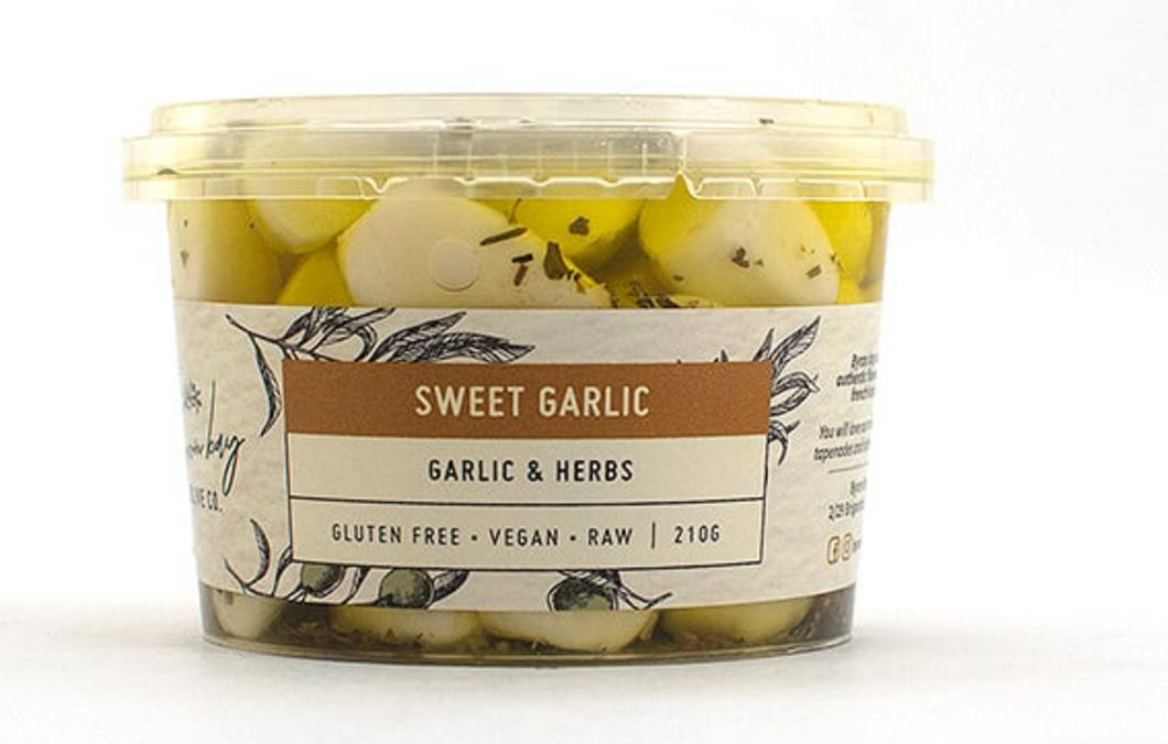 Byron Bay Olive Co Sweet Garlic - Garlic & Herbs 210g