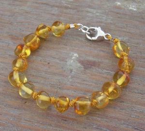 Selkie Honey Amber Teething Bracelet or Anklet