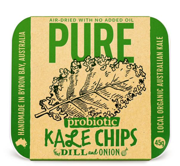 Extra- Ordinary Foods Kale Chips with Dill and Onion 45g