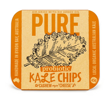 "Load image into Gallery viewer, Extra- Ordinary Foods Kale Chips with Cashew Vegan ""Cheese"" 45g"