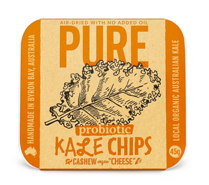 "Extra- Ordinary Foods Kale Chips with Cashew Vegan ""Cheese"" 45g"