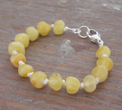 Selkie Designs Milky Amber Teething Bracelet or Anklet
