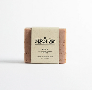 Church Farm Soap - Rose with Australian Pink Clay & Almond Oil