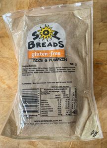 Copy of Sol bread Gluten Free Rice & Pumpkin 750g
