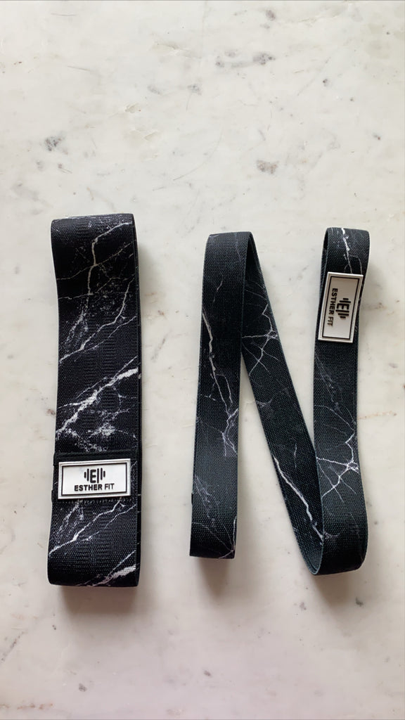 EstherFit™ Black Marble Long Band