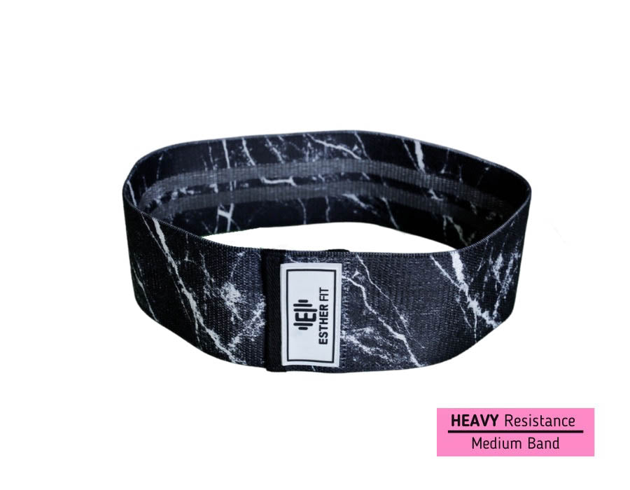 EstherFit™ Black Marble Glute Band