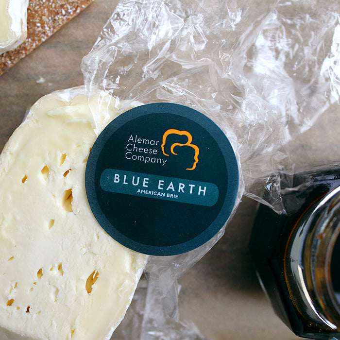 Blue Earth Brie from Alemar Cheese with Ames Farm Buckwheat Honey