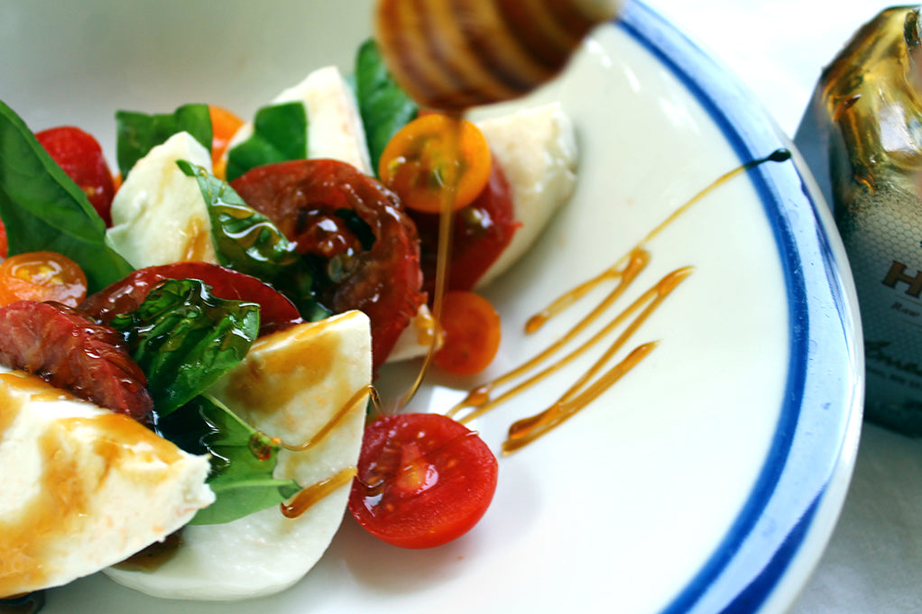 Buckwheat Honey Caprese Tomato Salad