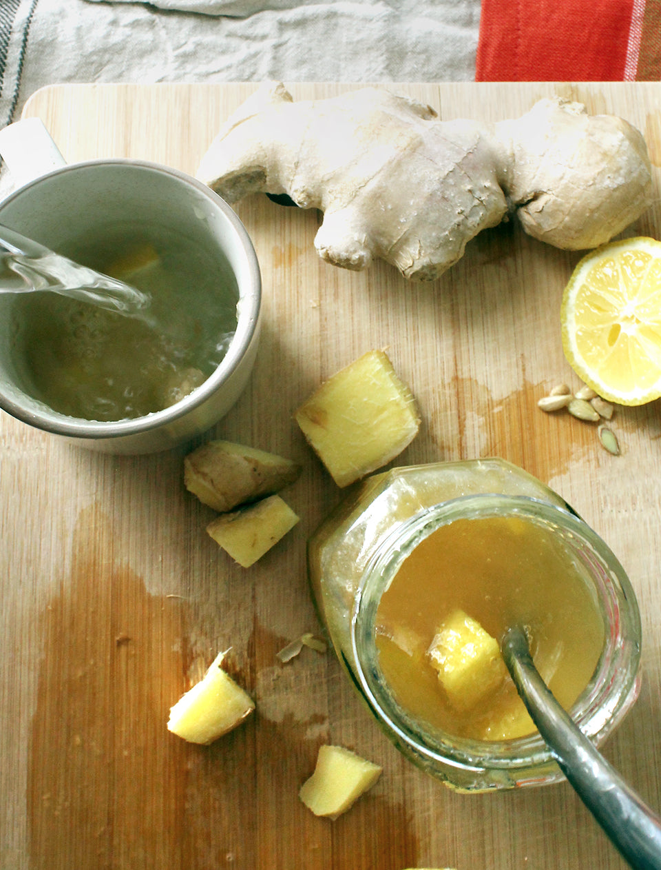Cold Remedy Honey Lemon Ginger Tea
