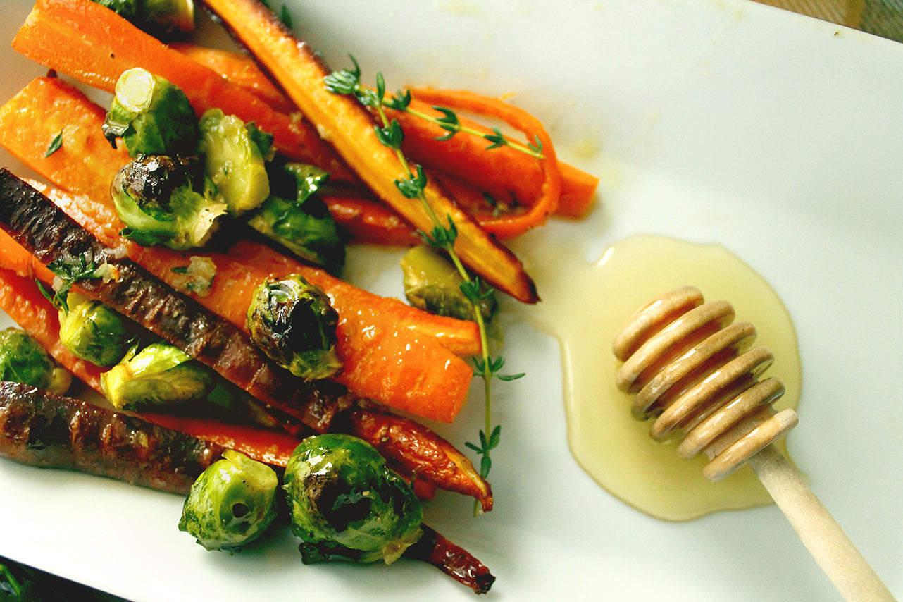 Honey Glazed Vegetables from Ames Farm