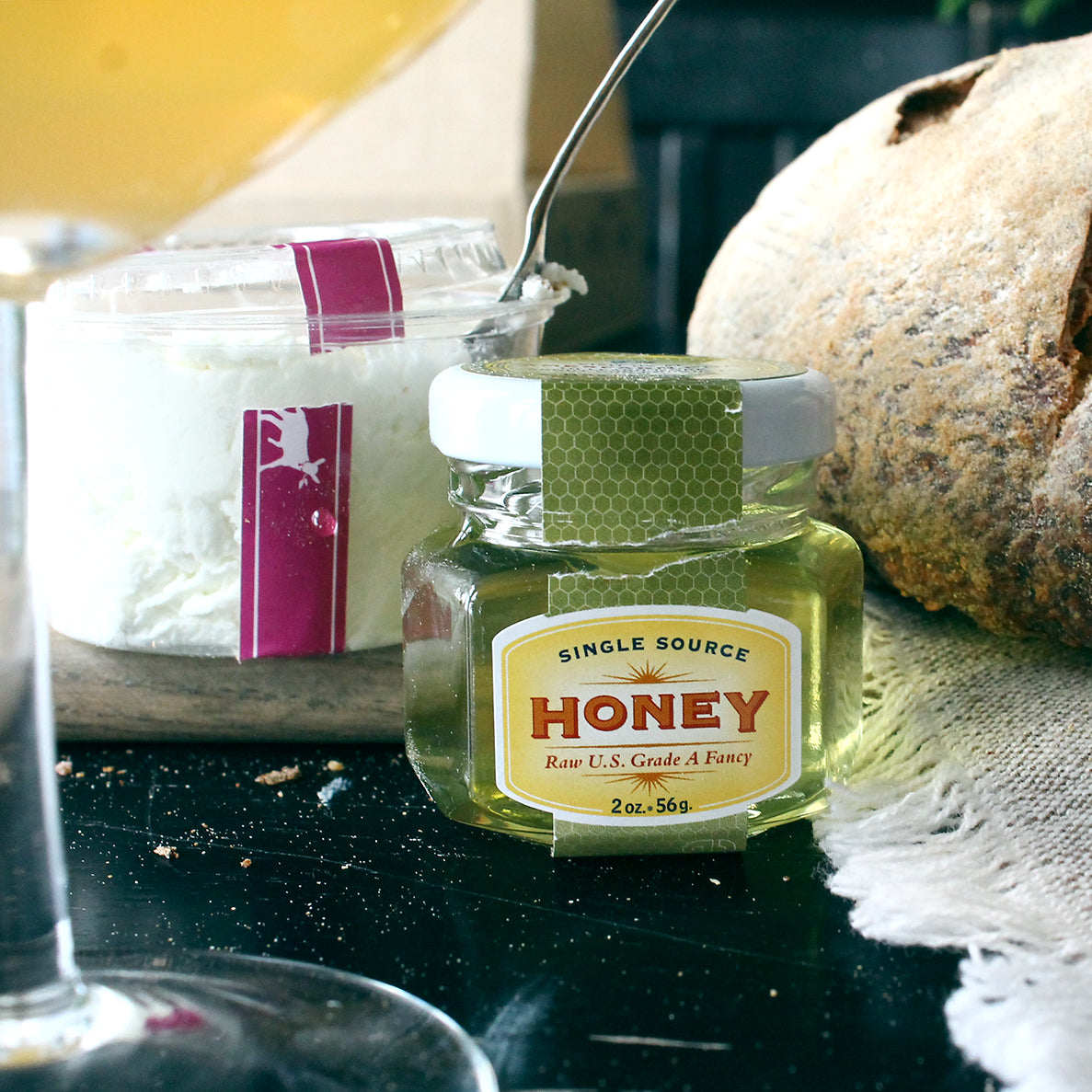 Singing Hills Chevre with Ames Farm Minnesota Honey
