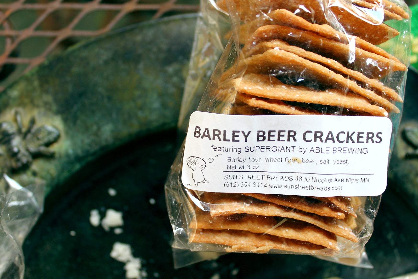 Sogn Tomme from Shepherd's Way Farms paired with Sun Street Breads crackers and Ames Farm raw honey