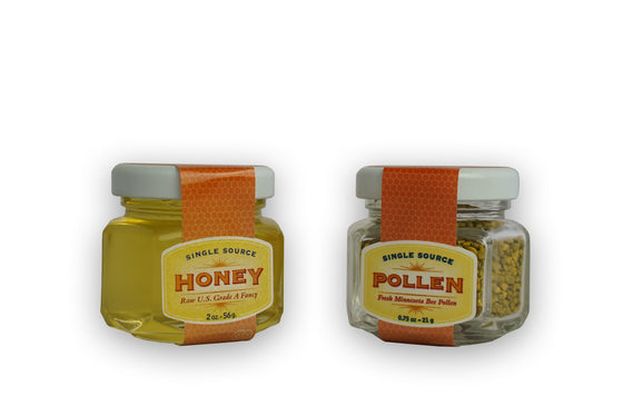 Field of Dreams Yellow Clover Honey & Bee Pollen Set