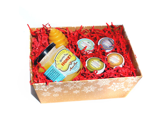 Holiday Honey and Candle Gift Box
