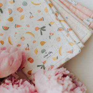 100% Cotton Burp Cloth with GOTS Certified Organic Terry Cotton