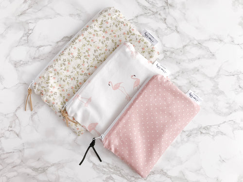 """The Heather"" - Set of 3 Reusable Snack Bags"