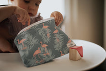Load image into Gallery viewer, Flamingo 100% Linen Reusable Snack Bag