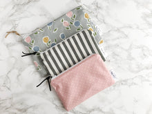 "Load image into Gallery viewer, ""The Rosie"" - Set of 3 Reusable Snack Bags"