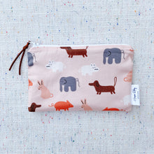 "Load image into Gallery viewer, ""Animal"" Organic Reusable Snack Bag, GOTS Certified Organic"
