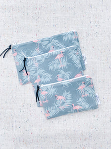 Flamingo 100% Linen Reusable Snack Bag