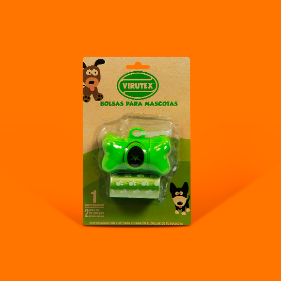 Bolsa para mascotas Oxodegradable con estuche dispensador