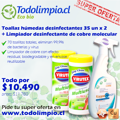 Super Oferta Toallas desinfectantes + Kopperclean