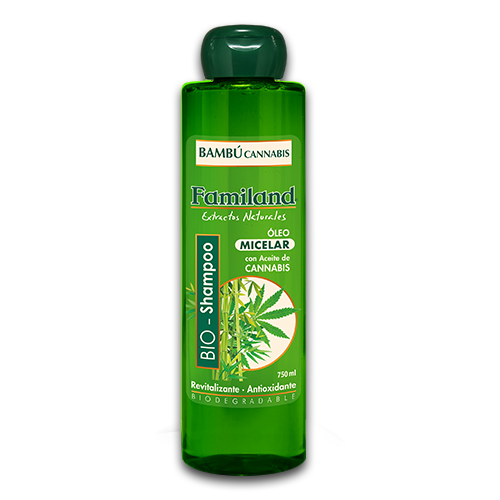 Shampoo bambú cannabis biodegradable 750 ml