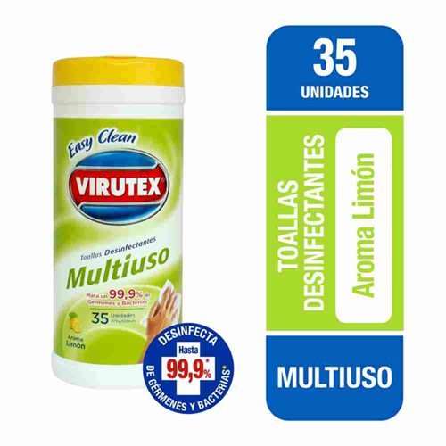 Toallas húmedas desinfectantes Virutex 35 un.