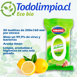 Toallas húmedas desinfectantes Virutex 50 un.